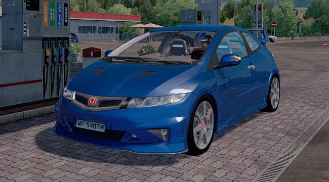 Мод Honda Civic Type-R v2.2 для ETS2 (1.33-1.34)