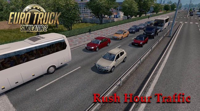 Мод Rush Hour Traffic v1.0 для ETS 2 (1.31)
