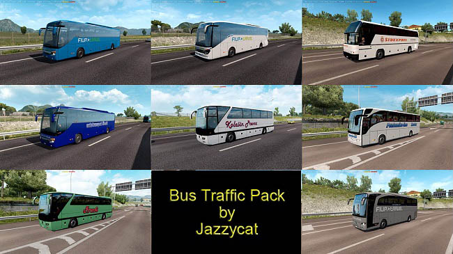Мод Bus Traffic Pack v7.3.0 для ETS 2 (1.35.x)