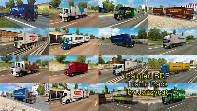 Мод Painted BDF Traffic Pack v5.7 для ETS 2 (1.35.x)
