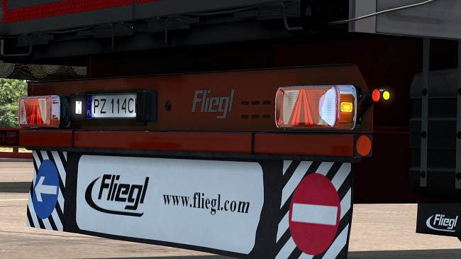 Мод прицеп Fliegl SDS350 Mega v2.13 для ETS 2 (1.35.x)