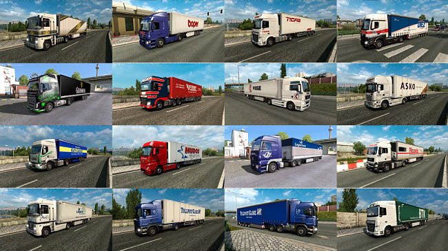 Мод Painted Truck Traffic Pack v8.2 для ETS 2 (1.35.x)