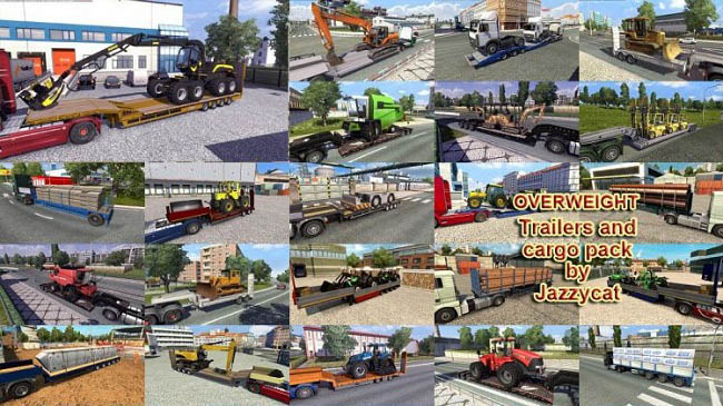 Мод Overweight Trailers and Cargo Pack v7.9 для ETS 2 (1.35.x)