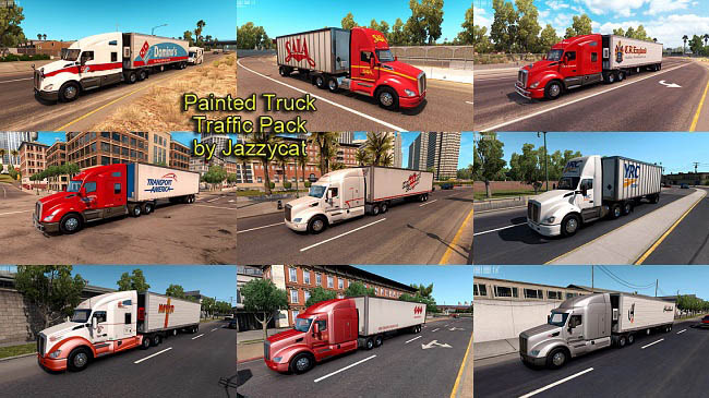 Мод Painted Truck Traffic Pack v2.1 для ATS (1.35.x)