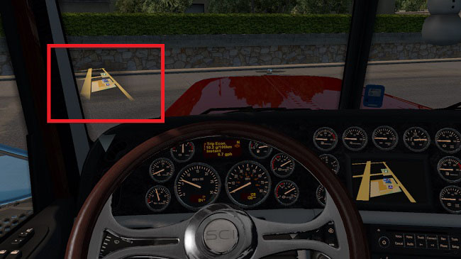 Мод Heads Up Display v1.0 для ATS (1.30-1.32)