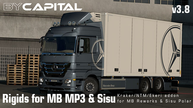 Мод Rigid Chassis for Mercedes Actros MP3 Reworks v3.5 для ETS 2 (1.31-1.32)