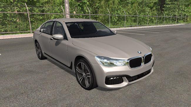 мод Bmw 7 Series M Sport для Beamng моды для игр про автомобили от