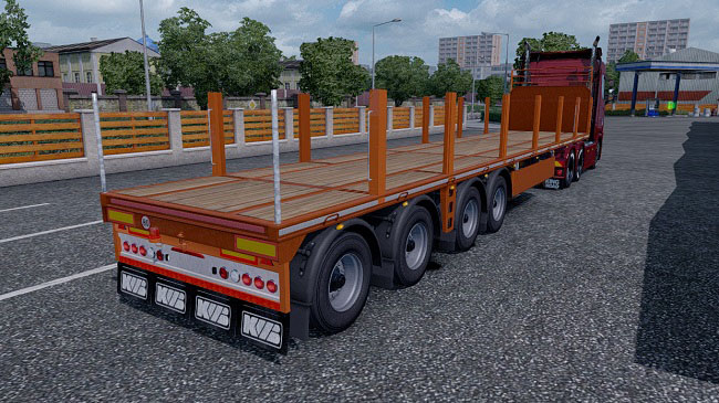 Мод Additional tuning for owned Platform trailer v1.1 для ETS 2 (1.32.x)