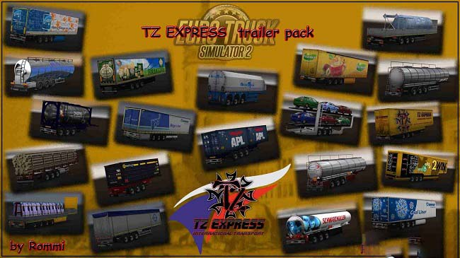 Мод TZ Express Trailers Pack для ETS 2 (1.36.x)