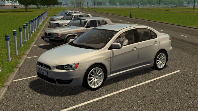 Мод Mitsubishi Lancer X 2008 для City Car Driving (1.5.9)