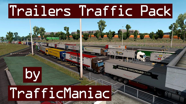 Мод Trailers Traffic Pack v2.6 для ETS 2 (1.35.x)