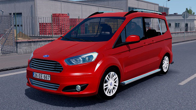 Мод Ford Tourneo Courier v1.20 для ETS 2 и ATS (1.36.x)