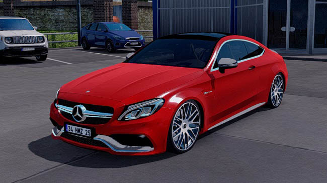 Мод Mercedes Benz C63S AMG Coupe v1.2 для ETS 2 (1.33.x)