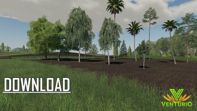 Мод 16 trees placeable v1.0 для FS19 (1.1.0.0)