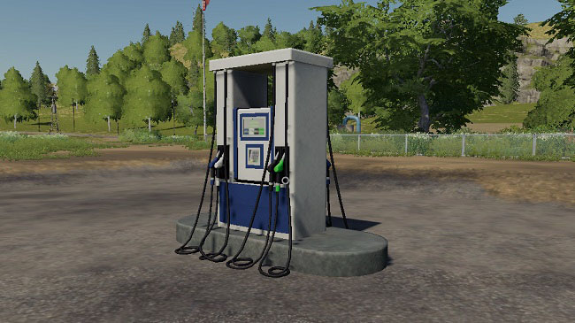 Мод Placeable Gas Station v1.0 для FS19 (1.1.0.0)