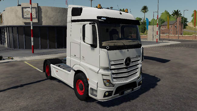 Мод Mercedes Actros MP4 v1.0 для FS19 (1.1.0.0)