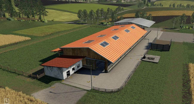 Мод Placeable Cowshed v1.0.0.1 для FS19 (1.1.0.0)