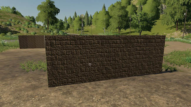 Мод Placeable walls set 5m, 10m, 10mround v1.0 для FS19 (1.1.0.0)