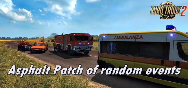 Мод Asphalt Patch of random events v1.5 для ETS 2 (1.35.x)