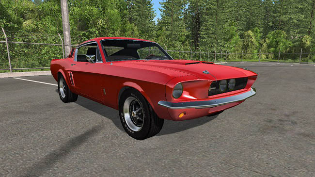Мод Ford Mustang Shelby GT500 м1.0 для BeamNG (0.15.x)