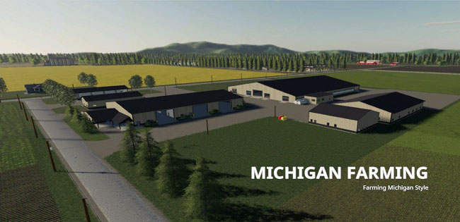 Карта Michigan Map 19 v3.1 Fixed для FS19 (1.4.x)