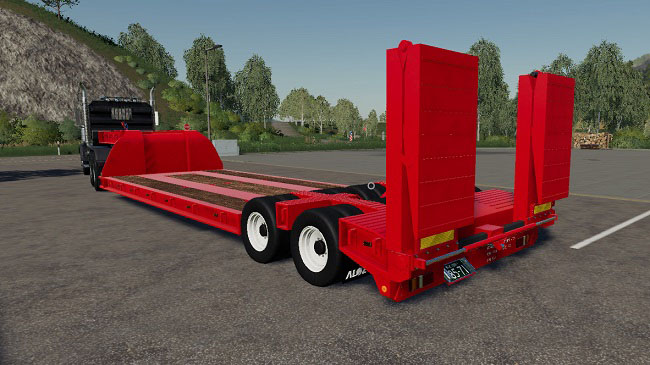 Мод 16 Wheels Lowdeck Trailer v1.2 для FS19 (1.2.x)