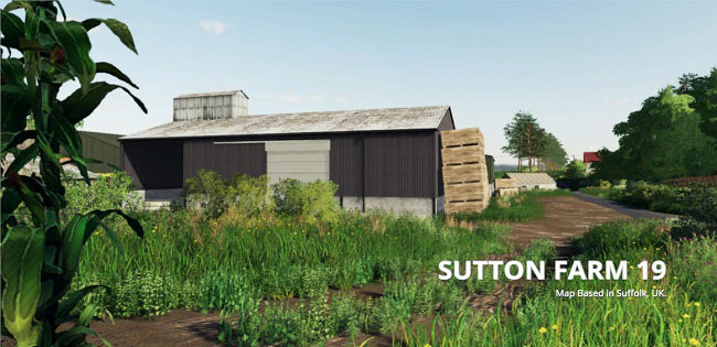Карта Sutton Farm v1.0 для FS19 (1.2.x)