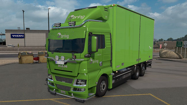 Мод 3 в 1 MAN TGX 2010 with BDF trailers v1.0 для ATS (1.33.x)