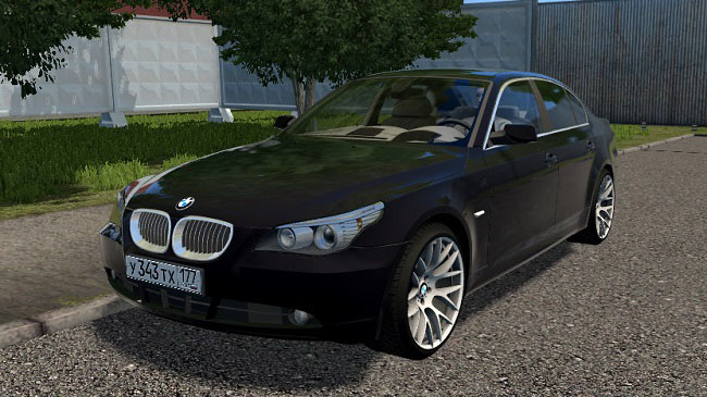 Мод BMW E60 525 для City Car Driving (1.5.7)