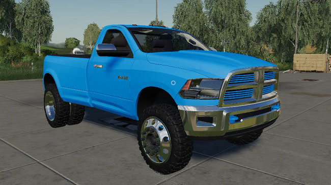 Мод Dodge 4TH Gen 3500 Single Cab v1.0 для FS19 (1.2.x)