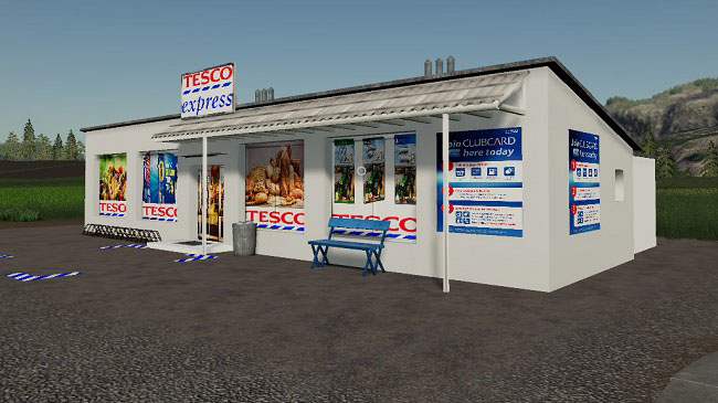 Мод Tesco Express Milk & Eggs Selling Point V1.1 для FS19 (1.2.x)