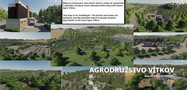 Карта Ag Vitkov Map Edit v1.0 для FS19 (1.2.x)