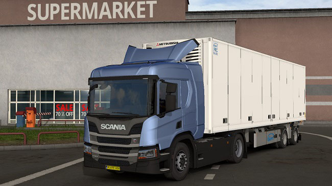 Мод Scania NGS P Cab (add-on for R chassis) v1.4 для ETS 2 (1.35.x)