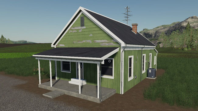 Мод Placeable 2 bedroom house with sleep trigger v1.0 для FS19 (1.2.x)