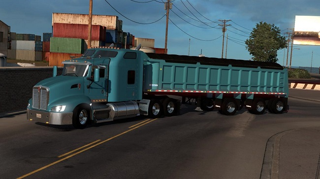 Мод Cobra Black Triaxle Dump Ownable для ATS (1.34.x)