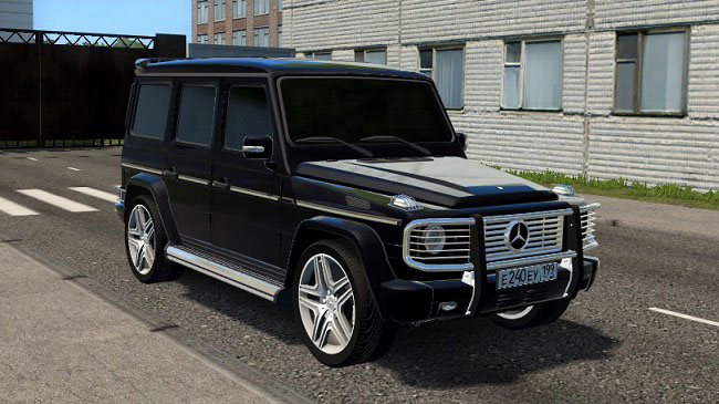 Мод Mercedes-Benz G350 CDI для City Car Driving (1.5.7)