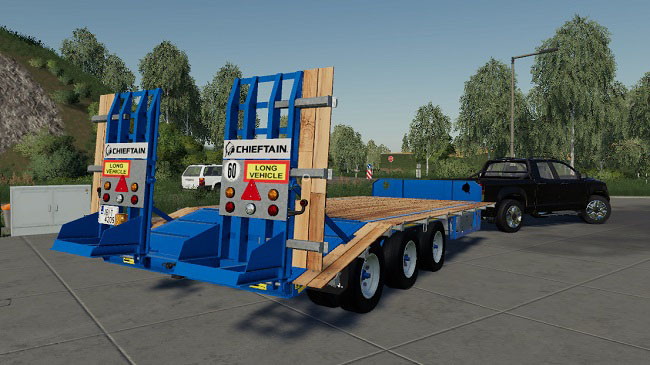 Мод Chieftain Tri Axle Low Loader V1.0 для FS19 (1.2.x)