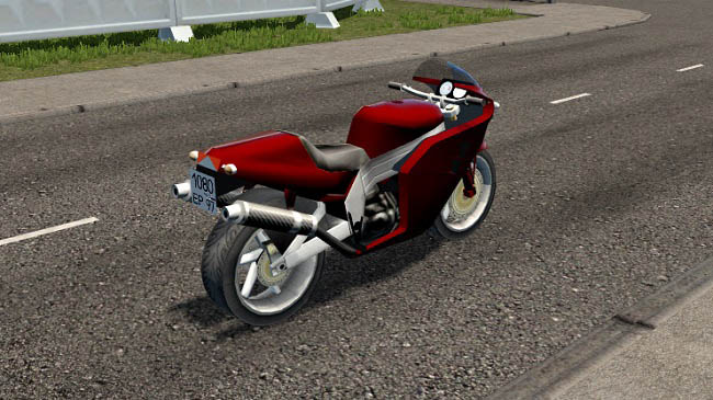 Мод мотоцикл Yamaha FCR-900 для City Car Driving ( 1.5.1–1.5.7)