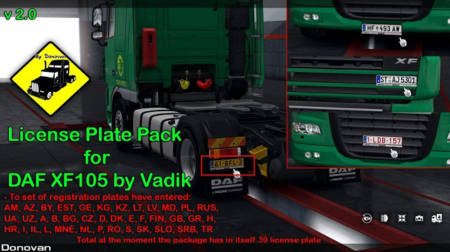 Мод License Plate Pack for Modified Trucks v4.0 для ETS 2 (1.34.x)