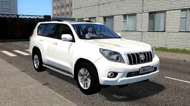 Мод Toyota Land Cruiser Prado для City Car Driving (1.5.7)