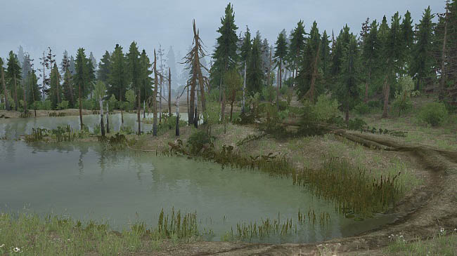 "Карта ""Across the river (Через реку)"" v1.0 для ST: MudRunner"