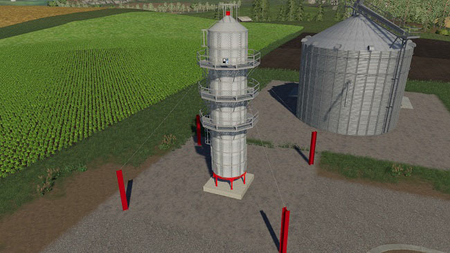 Мод Placeable Grain Dryer Extension v1.1 для FS19 (1.2.x)