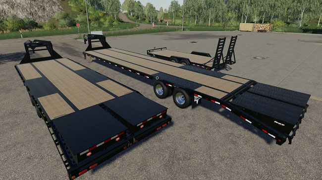 Мод Pj trailer pack v1.0 для FS19 (1.2.x)