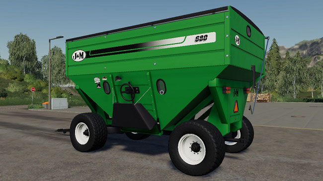 Мод J&M 680 Gravity Wagons v2.0 для FS19 (1.3.x)