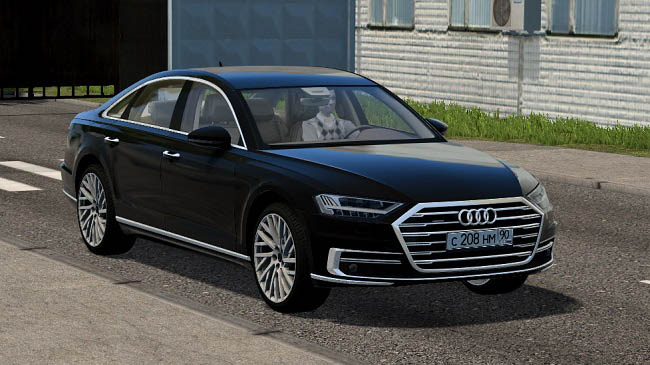 Мод Audi A8 4.0 TFSI quattro 2018 для City Car Driving (1.5.7)