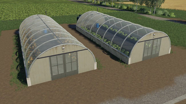 Мод Greenhouse Pack Placeable v1.0 для FS19 (1.2.x)