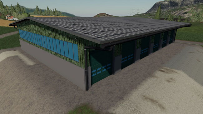 Мод Big Vehicle Hall v1.0 для FS19 (1.3.x)