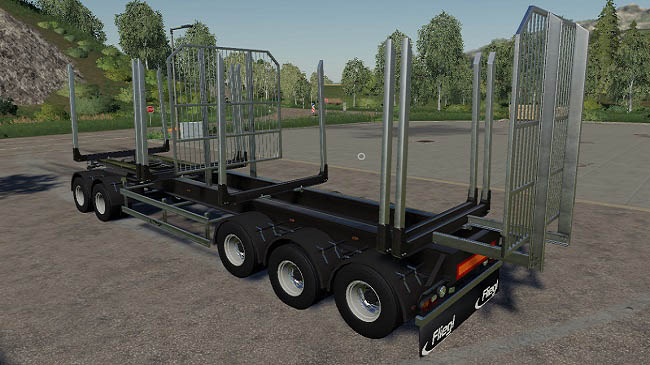 Мод Fliegl Log Trailer v2.0 для FS19 (1.3.x)