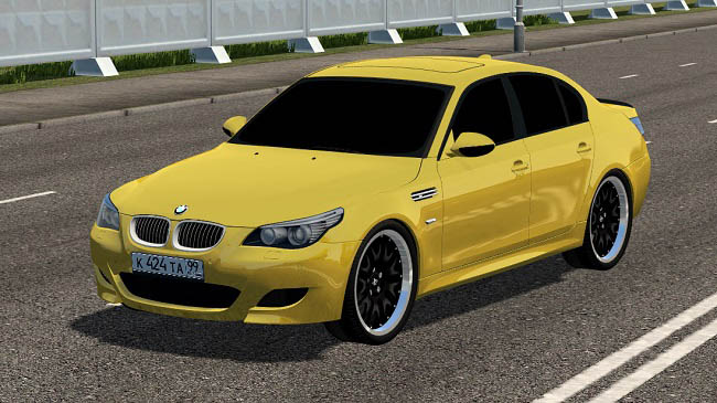 Мод BMW M5 E60 2009 Gold and Grey для City Car Driving (1.5.7)