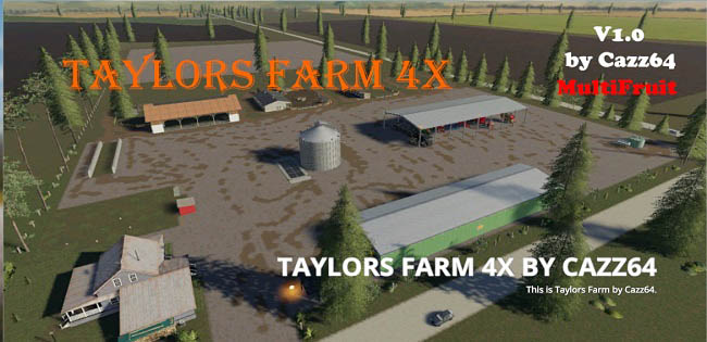 Карта Taylor's Farm Multifruit 4x v1.0.1 для FS19 (1.3.x)